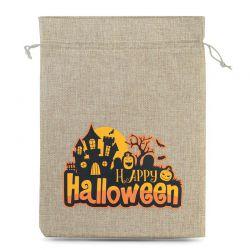 1 St. Halloween Jutesäckchen (Nr.1) 40 x 55 cm - naturfarbe Jutesäckchen