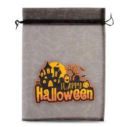 1 St. Halloween Organzabeutel (Nr.1) 40 x 55 cm - schwarz Dekorative Organzabeutel