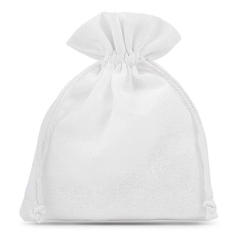 5 St. Baumwollsäckchen 15 x 20 cm - weiß