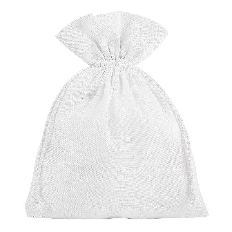 5 St. Baumwollsäckchen 18 x 24 cm - weiß