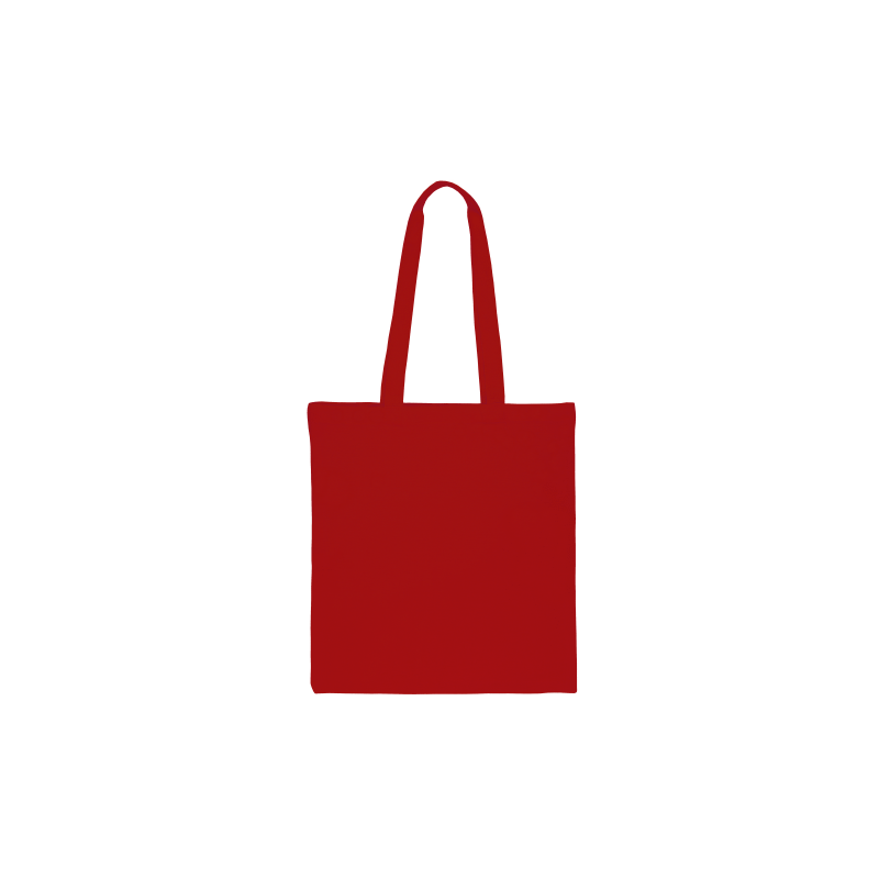 Baumwolltasche, 1 Stück, 38 x 42 cm mit langen Henkeln - rot