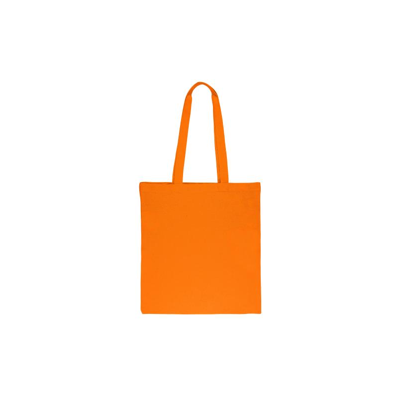 Baumwolltasche, ein Stück, 38 x 42 cm mit langen Henkeln, orange