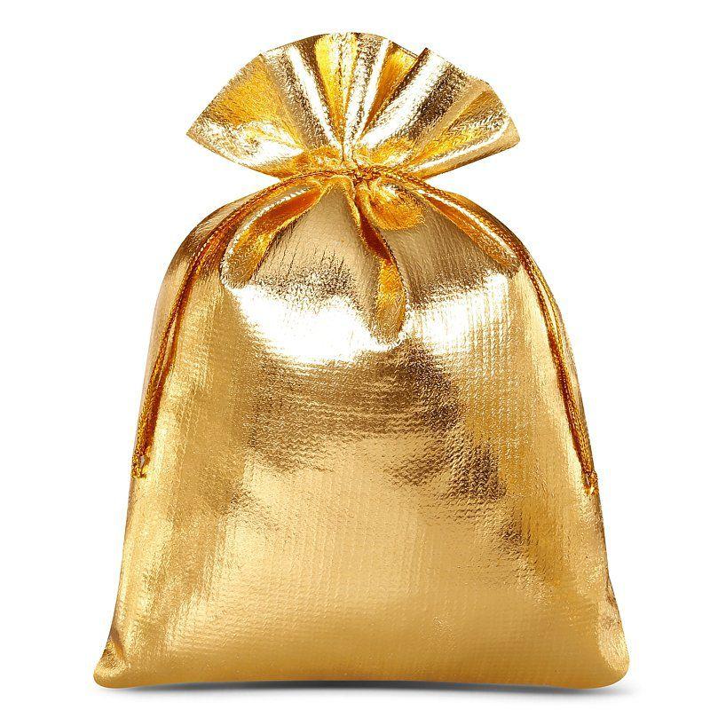 10 St. Metallic Säckchen 15 x 20 cm - gold