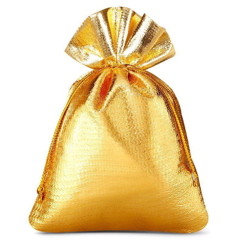 10 St. Metallic Säckchen 8 x 10 cm - gold metallic