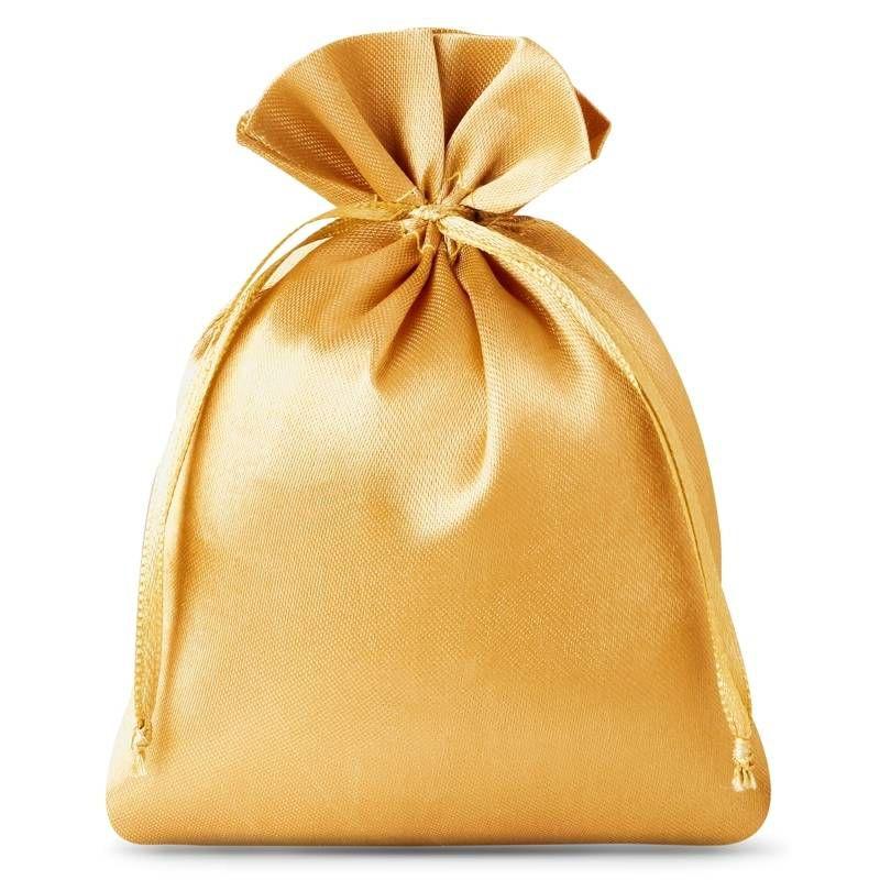10 St. Satinsäckchen 8 x 10 cm - gold