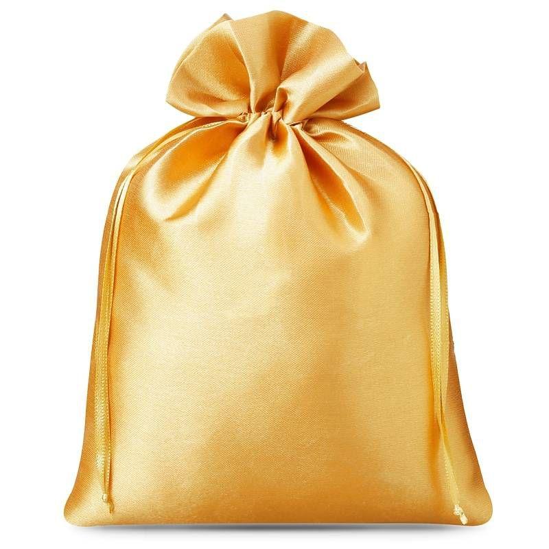 5 St. Satinsäckchen 22 x 30 cm - gold