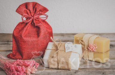 Verpackung für handgemachte Seife