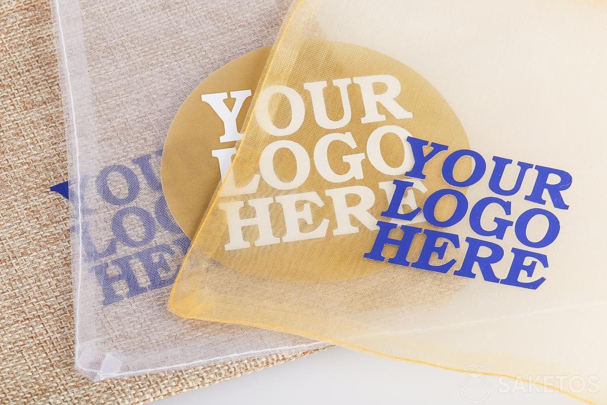 Beutel für Werbeartikel mit einem Logo Ihrer Wahl.