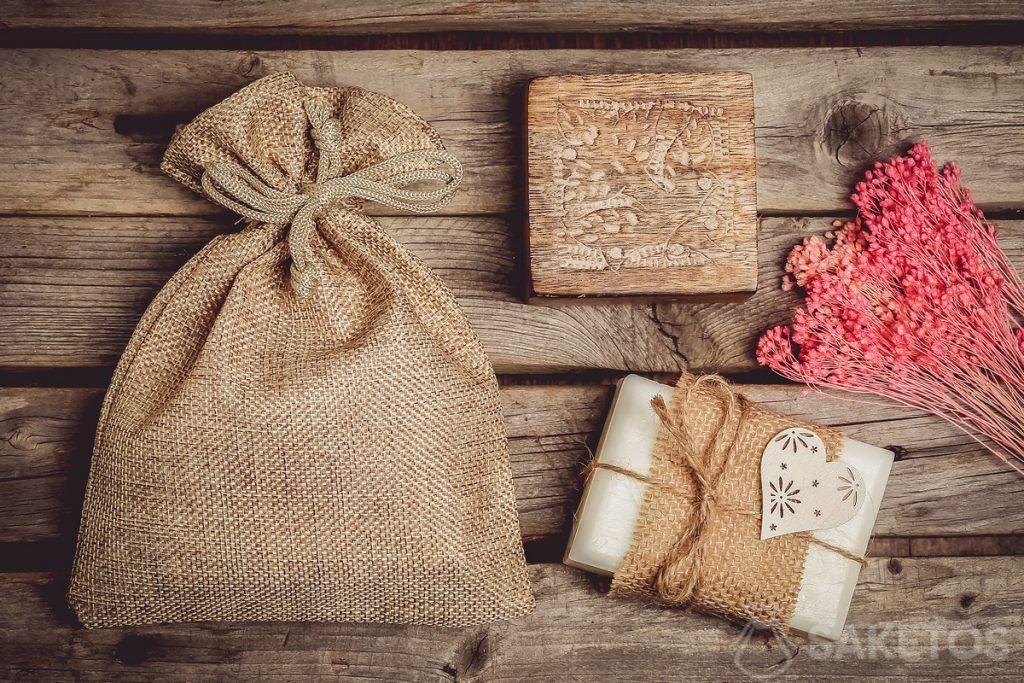 Verpackung für handgemachte Seife.