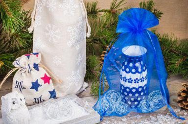 Durch die Beutel wirkt das Geschenk nicht nur elegant, sondern auch originell.