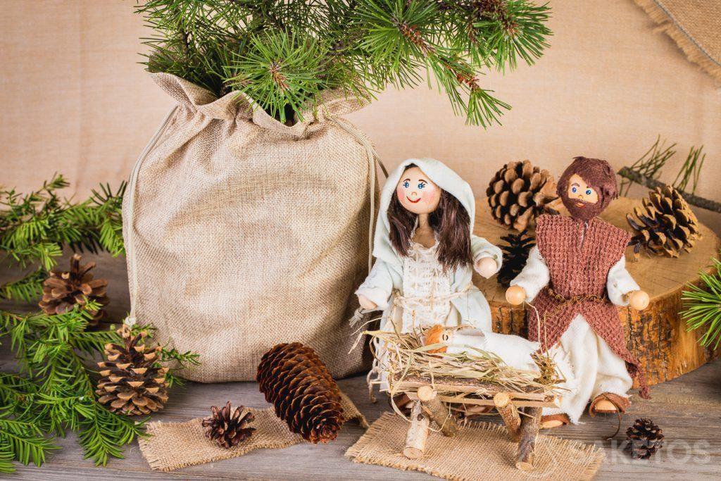 Eine rustikale Weihnachtskomposition