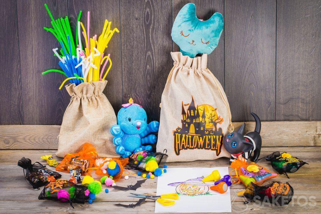 Mit den Beuteln kann man ein Kinderzimmer ganz einfach für Halloween dekorieren
