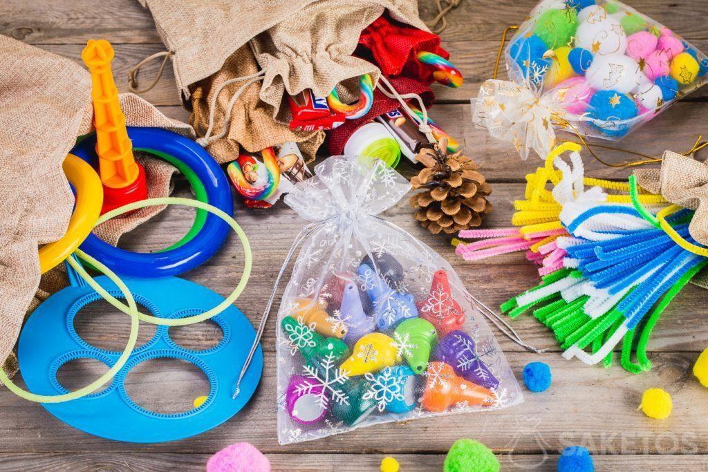 Beutel sind ideal zum Aufbewahren von Spielzeug