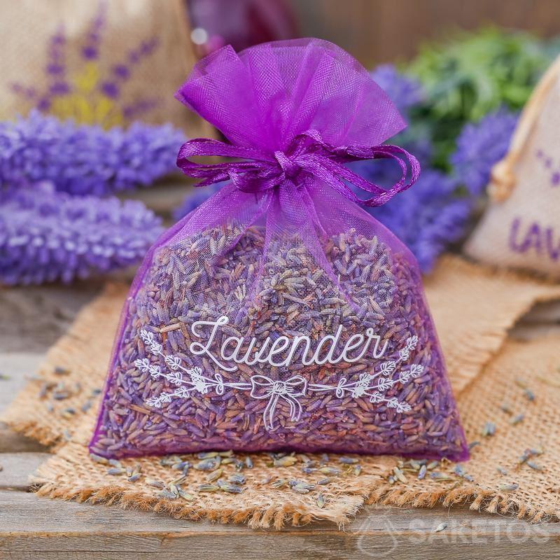 Organzabeutel eignen sich auch hervorragend als Lavendelverpackung