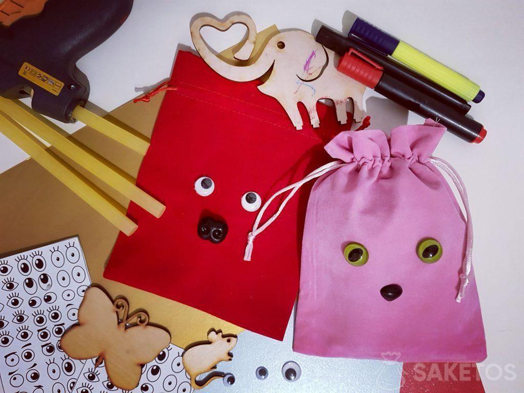 6.Dekorieren von Geschenkbeuteln - Personalisieren der selbstgemachten Verpackung