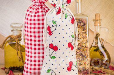 5. Leinenbeutel mit Aufdruck zum Dekorieren der Küche