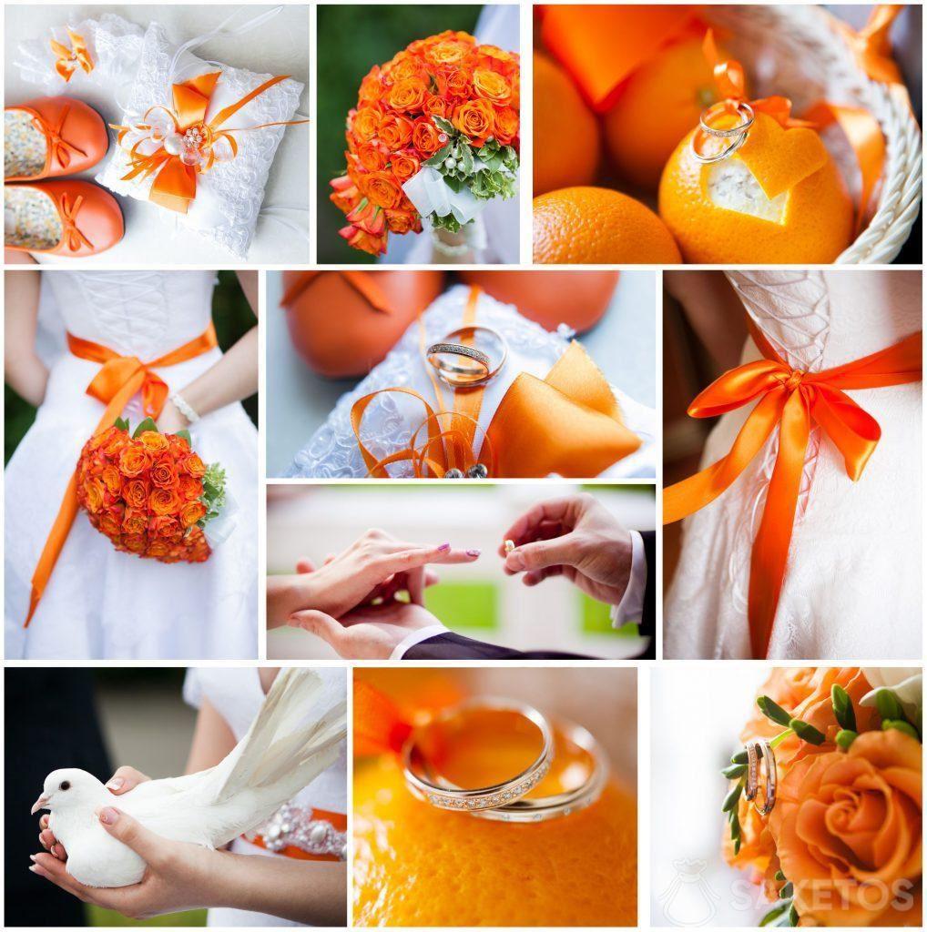 1.Orange - Die Leitfarbe der Hochzeit und des Hochzeitsempfangs