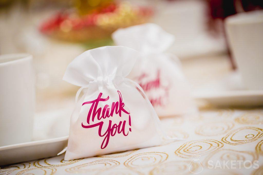 Vielen Dank an die Hochzeitsgäste