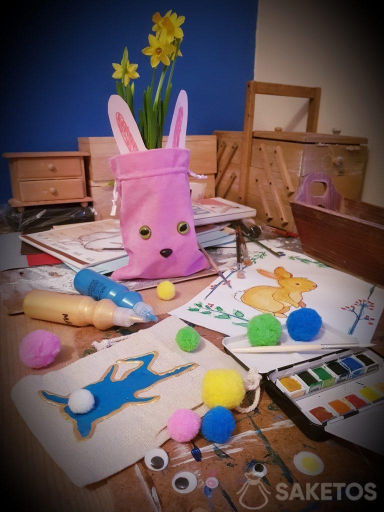 Kreativ mit Ihrem Kind - DIY Taschen für Ostern