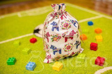 Dekorativer Beutel für das Kinderzimmer für Lego- und Duplosteine