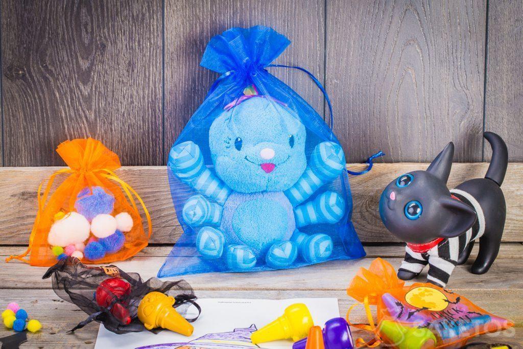 Halloween-Taschen - Organza-Dekoration im Kinderzimmer