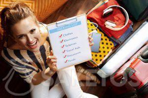 3.Vor der Reise sollten Sie eine Checkliste erstellen.