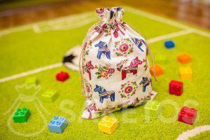 6. Dekorativer Beutel für das Kinderzimmer für Lego- und Duplosteine