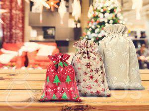 Hersteller von Weihnachtsbeuteln, u. a. aus Jute und Leinen