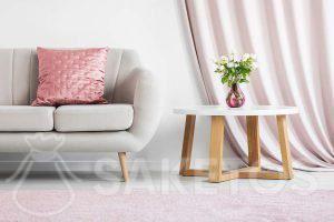 Modernes Wohnzimmer in Pastellfarben